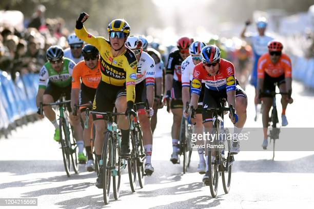Arrival / Dylan Groenewegen of The Netherlands and Team Jumbo-Visma / Celebration / Fabio Jakobsen of The Netherlands and Team Deceuninck -...