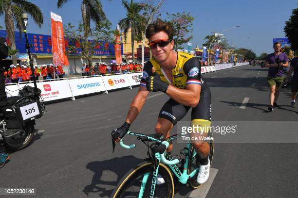Arrival / Dylan Groenewegen of The Netherlands and Team Lotto-Jumbo / Celebration / during the 2nd Tour Of Guangxi 2018, Stage 1 a 107,4km stage from...