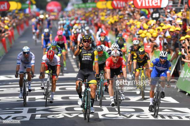 Arrival / Dylan Groenewegen of The Netherlands and Team LottoNL - Jumbo Celebration / Andre Greipel of Germany and Team Lotto Soudal / Fernando...