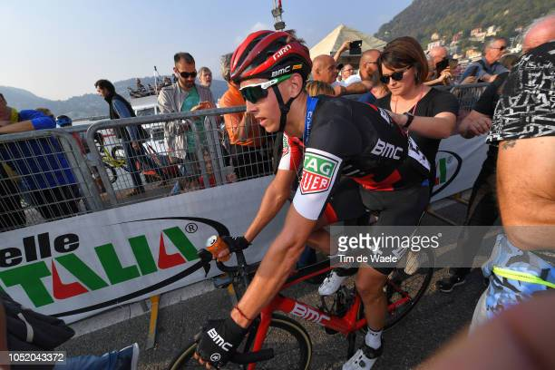Arrival / Dylan Teuns of Belgium and Bmc Racing Team /during the 112th Il Lombardia 2018 a 241km race from Bergamo to Como / IL / on October 13, 2018...