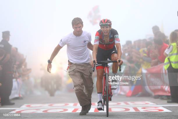Arrival / Dylan Teuns of Belgium and BMC Racing Team / during the 73rd Tour of Spain 2018, Stage 17 a 157km stage from Getxo to Alto del Balcon de...