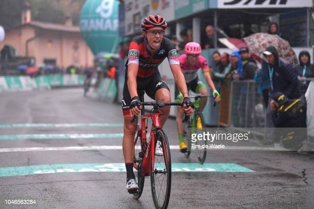 Arrival / Dylan Teuns of Belgium and BMC Racing Team / Hugh Carthy of Great Britain and Team EF Education First - Drapac P/B Cannondale / during the...