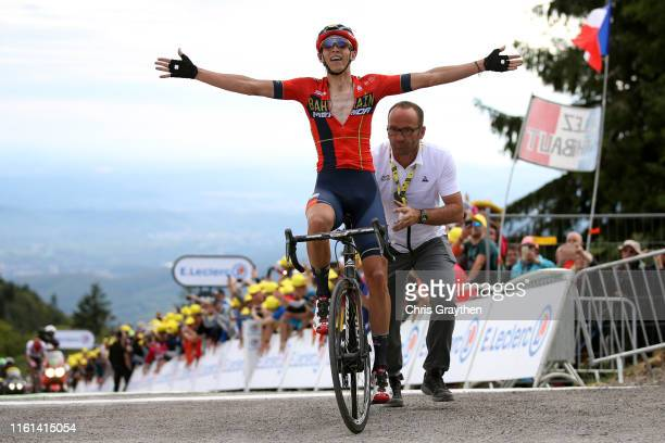 Arrival / Dylan Teuns of Belgium and Team Bahrain-Merida / Celebration / during the 106th Tour de France 2019, Stage 6 a 160,5km stage from Mulhouse...