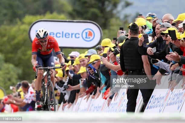 Arrival / Dylan Teuns of Belgium and Team Bahrain-Merida / Celebration / Public / Fans / during the 106th Tour de France 2019, Stage 6 a 160,5km...