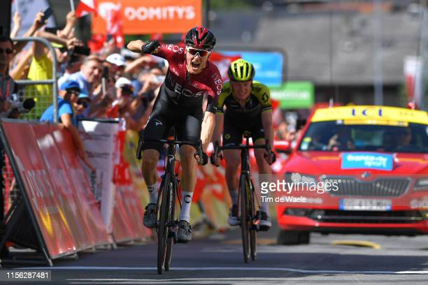 Arrival / Dylan van Baarle of The Netherlands and Team INEOS / Celebration / Jack Haig of Australia and Team Mitchelton-Scott / during the 71st...
