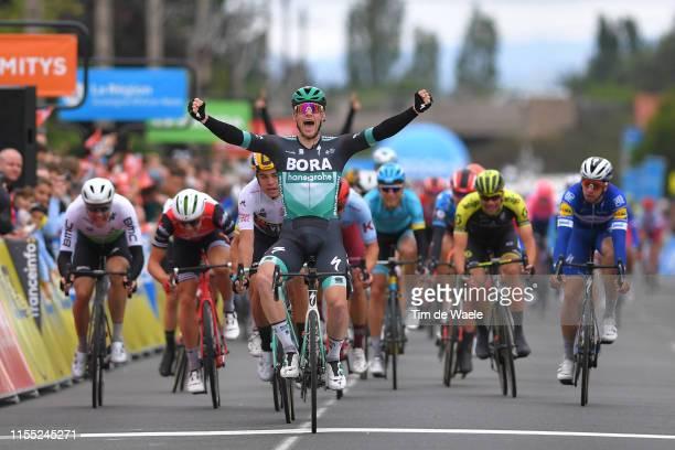 Arrival / Edvald Boasson Hagen of Norway and Team Dimension Data / Edward Theuns of Belgium and Team Trek-Segafredo / Wout Van Aert of Belgium and...