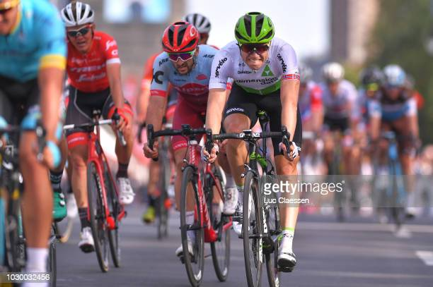 Arrival / Edvald Boasson Hagen of Norway and Team Dimension Data / Nathan Haas of Australia and Team Katusha Alpecin /during the 9th Grand Prix...