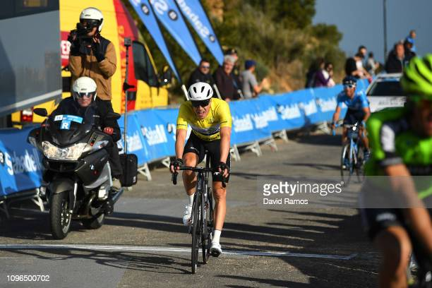 Arrival / Edvald Boasson Hagen of Norway and Team Dimension Data Yellow Leader Jersey / Disappointment / during the 70th Volta a la Comunitat...