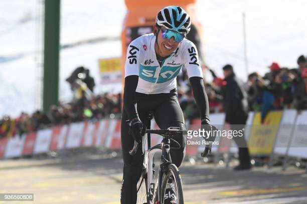 Arrival / Egan Arley Bernal Gomez of Colombia and Team Sky Disappointment / during the 98th Volta Ciclista a Catalunya 2018, Stage 4 a 170,8km stage...