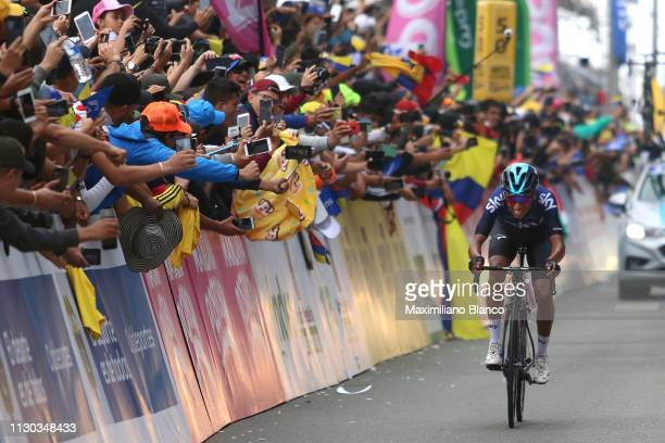Arrival / Egan Arley Bernal of Colombia and Team Sky / during the 2nd Tour of Colombia 2019 Stage 6 a 1738km stage from El Retiro to Alto Las Palmas...