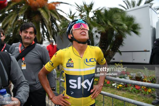Arrival / Egan Arley Bernal of Colombia and Team Sky Yellow Leader Jersey / Celebration / during the 77th Paris - Nice 2019, Stage 8 a 110km stage...