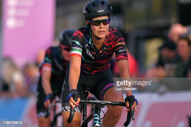 Arrival / Elena Cecchini of Italy and Team Canyon Sram Racing / during the 6th Ladies Tour of Norway 2019, Stage 2 a 133,6km from Mysen to Askim /...