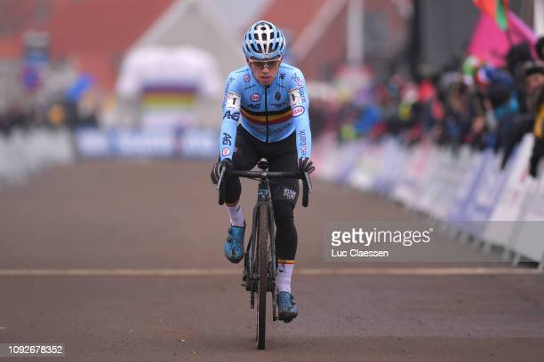 Arrival / Eli Iserbyt of Belgium and Team Belgium / during the 70th Cyclo-cross World Championships Bogense 2019, Men Under 23 / Cross Denmark /...
