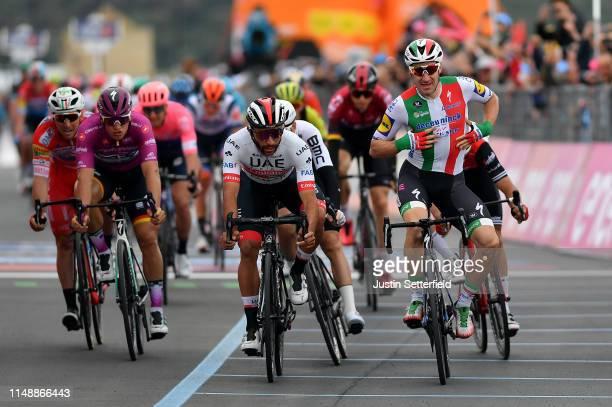 Arrival / Elia Viviani of Italy and Team Deceuninck QuickStep / Celebration / Fernando Gaviria Rendon of Colombia and UAE Team Emirates / Arnaud...