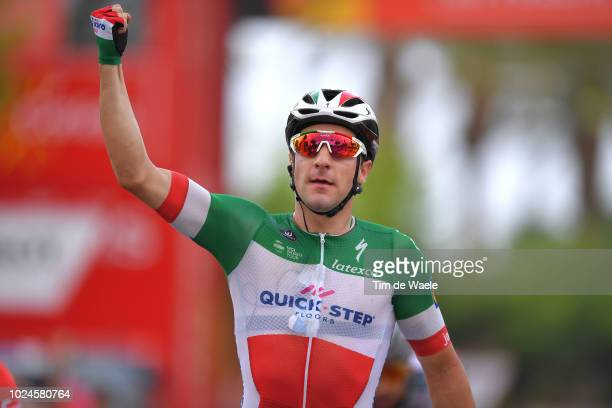 Arrival / Elia Viviani of Italy and Team Quick-Step Floors / Celebration / during the 73rd Tour of Spain 2018, Stage 3 a 178,2km stage from Mijas to...