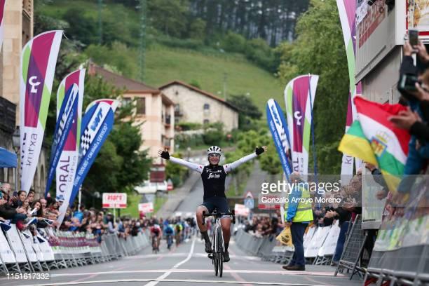 Arrival / Elisa Longo Borghini of Italy and Team Trek- Segafredo Polka Dot Mountain Jersey / Celebration / during the 32nd Women WT Emakumeen. Bira...