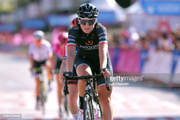 Arrival / Elisa Longo Borghini of Italy and Team Wiggle High5 / during the 4th Madrid Challenge by la Vuelta, Stage 2 a 100,3km stage from Madrid to...