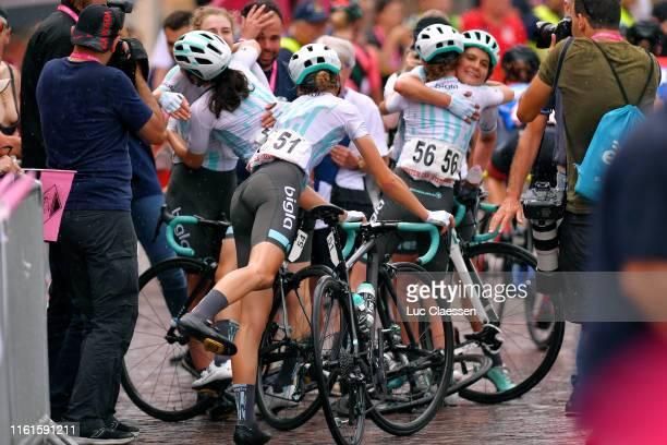 Arrival / Elizabeth Banks of United Kingdom and Team Bigla / Elise Chabbey of Switzerland and Team Bigla / Cecilie Uttrup Ludwig of Denmark and Team...
