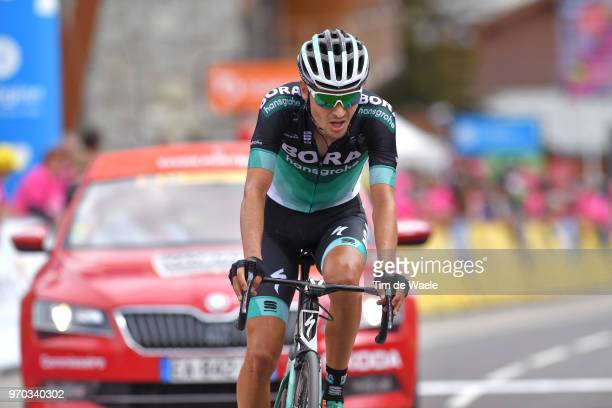 Arrival / Emanuel Buchmann of Germany and Team Bora Hansgrohe / during the 70th Criterium du Dauphine 2018 Stage 6 a 110km stage from Frontenex to La...