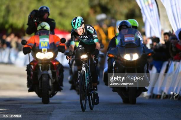 Arrival / Emanuel Buchmann of Germany and Team BoraHansgrohe / Celebration / during the 28th Mallorca Challenge 2019 Trofeo Lloseta a 1724km race...