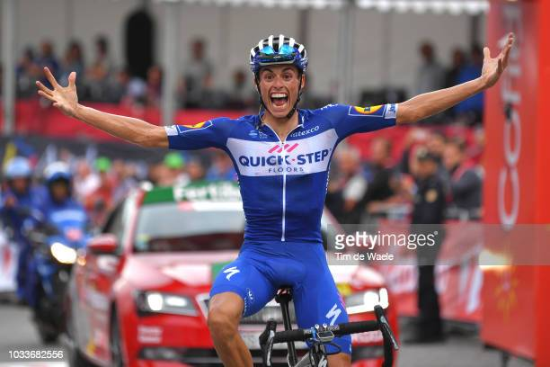 Arrival / Enric Mas of Spain and Team QuickStep Floors Celebration / during the 73rd Tour of Spain 2018 Stage 20 a 973km stage from EscaldesEngordany...