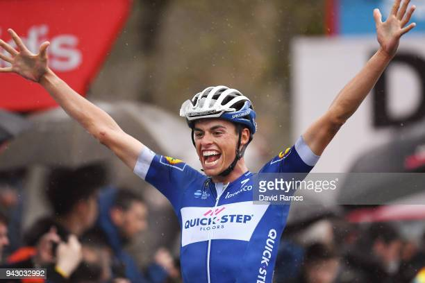 Arrival / Enric Mas of Spain and Team QuickStep Floors / Celebration / during the 58th Vuelta Pais Vasco 2018 Stage 6 a 1222km stage from Eibar to...