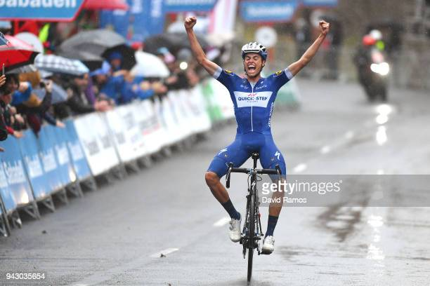 Arrival / Enric Mas of Spain and Team QuickStep Floors / Celebration / during the 58th Vuelta Pais Vasco 2018 Stage 5 a 1647km stage from...