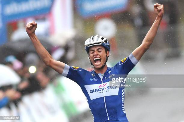 Arrival / Enric Mas of Spain and Team Quick-Step Floors / Celebration / during the 58th Vuelta Pais Vasco 2018, Stage 6 a 122,2km stage from Eibar to...