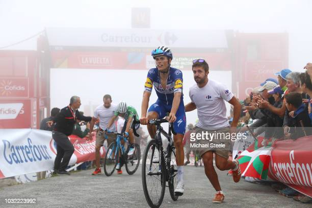 Arrival / Enric Mas of Spain and Team QuickStep Floors / during the 73rd Tour of Spain 2018 Stage 17 a 157km stage from Getxo to Alto del Balcon de...