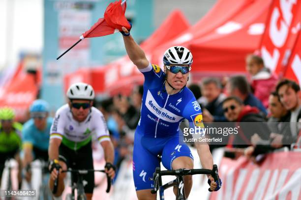 Arrival / Fabio Jakobsen of Netherlands and Team Deceuninck - Quick-Step / Celebration / Turkish Flag / during the 55th Presidential Cycling Tour Of...