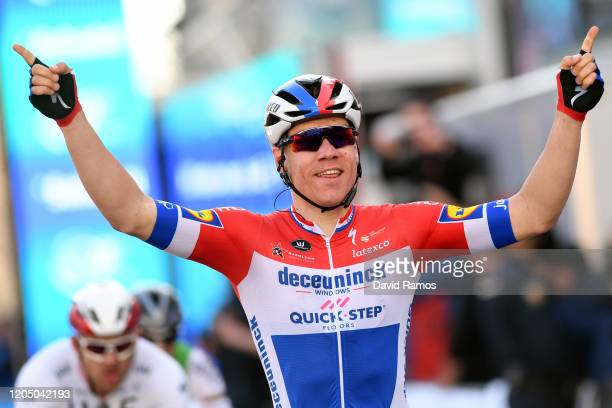 Arrival / Fabio Jakobsen of The Netherlands and Team Deceuninck - Quick-Step / Celebration / during the 71st Volta a la Comunitat Valenciana 2020,...