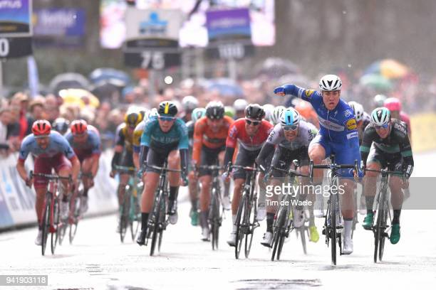 Arrival / Fabio Jakobsen of The Netherlands and Team QuickStep Floors / Celebration / Christopher Lawless of Great Britain and Team Sky / Jens...