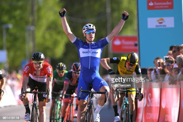Arrival / Fabio Jakobsen of The Netherlands and Team Quick-Step Floors / Celebration / Moreno Hofland of The Netherlands and Team Lotto Soudal / Timo...