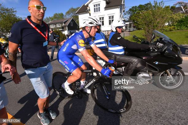 Arrival / Fabio Jakobsen of The Netherlands and Team Quick-Step Floors / during the 11th Tour des Fjords 2018, Stage 1 a 191km stage from Lindesnes...