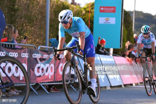 Arrival / Fabio Jakobsen of The Netherlands and Team QuickStep Floors Blue Leader Jersey / during the 11th Tour des Fjords 2018 Stage 3 a 183km stage...