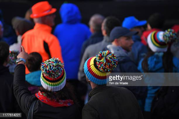Arrival / Fans / Public / UCI Rainbow Jersey / Detail view / during the 92nd UCI Road World Championships 2019 Men Under 23 Road Race a 173km race...
