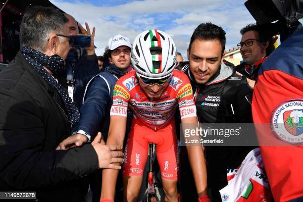 Arrival / Fausto Masnada of Italy and Team Androni Giocattoli - Sidermec / Celebration / during the 102nd Giro d'Italia 2019, Stage 6 a 238km stage...