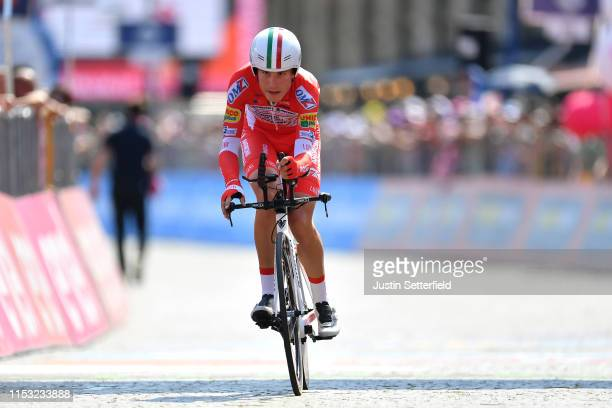 Arrival / Fausto Masnada of Italy and Team Androni Giocattoli - Sidermec / during the 102nd Giro d'Italia 2019, Stage 21 a 17km Individual Time Trial...
