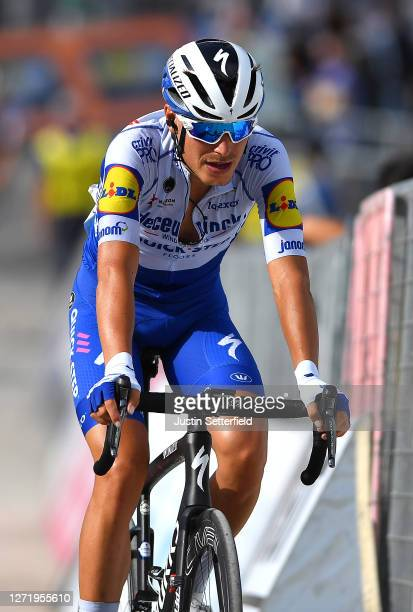 Arrival / Fausto Masnada of Italy and Team Deceuninck - Quick-Step / during the 55th Tirreno-Adriatico 2020, Stage 5 a 202km stage from Norcia to...