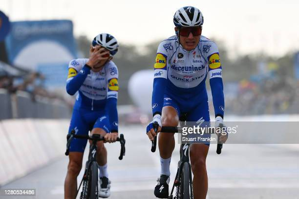 Arrival / Fausto Masnada of Italy and Team Deceuninck - Quick-Step / James Knox of The United Kingdom and Team Deceuninck - Quick-Step /...