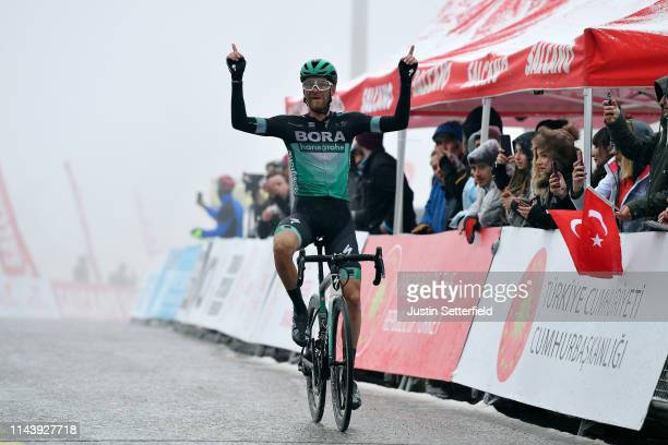 Arrival / Felix Grobschartner of Austria and Team Bora-Hansgrohe / Celebration / during the 55th Presidential Cycling Tour of Turkey 2019, Stage 5 a...