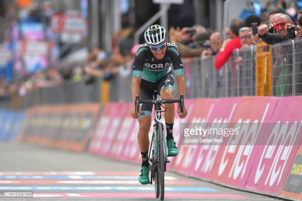 Arrival / Felix Grobschartner of Austria and Team Bora-Hansgrohe / during the 101st Tour of Italy 2018, Stage 20 a 214km stage from Susa to Cervinia...