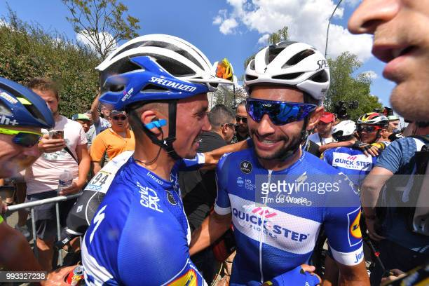 Arrival / Fernando Gaviria of Colombia and Team QuickStep Floors / Celebration / Julian Alaphilippe of France and Team QuickStep Floors / during the...