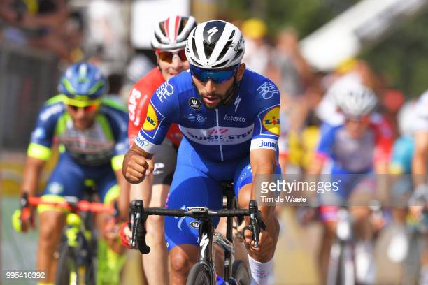 Arrival / Fernando Gaviria of Colombia and Team QuickStep Floors / Celebration / during the 105th Tour de France 2018 Stage 4 a 195km stage from La...