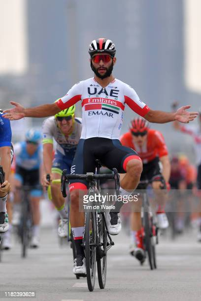Arrival / Fernando Gaviria of Colombia and UAE - Team Emirates / Celebration / during the 3rd Tour of Guangxi 2019, Stage 5 a 212,2km stage from...