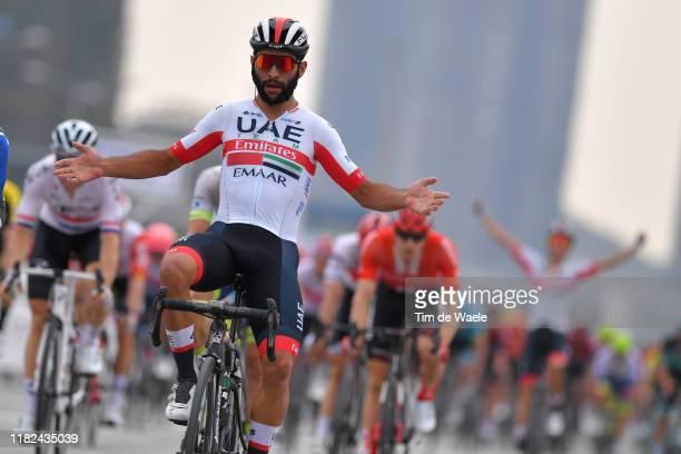 Arrival / Fernando Gaviria of Colombia and UAE Team Emirates / Celebration / during the 3rd Tour of Guangxi 2019 Stage 5 a 2122km stage from Liuzhou...