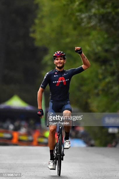Arrival / Filippo Ganna of Italy and Team INEOS Grenadiers / Celebration /during the 103rd Giro d'Italia 2020, Stage 5 a 225km stage from Mileto to...