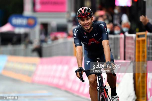 Arrival / Filippo Ganna of Italy and Team INEOS Grenadiers / Celebration / during the 103rd Giro d'Italia 2020, Stage 5 a 225km stage from Mileto to...