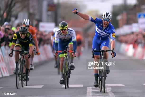 Arrival / Florian Senechal of France and Team Deceuninck - Quick-Step / Celebration / Aime De Gendt of Belgium and Team Wanty Groupe Gobert / Niki...