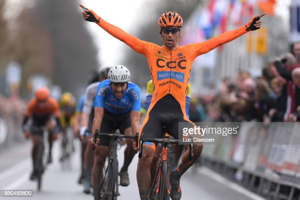 Arrival / Frantisek Sisr of Czech Republic and CCC Sprandi Polkowice Celebration / during the 56th Ronde van Drenthe 2018 a 1942km race from Emmen to...